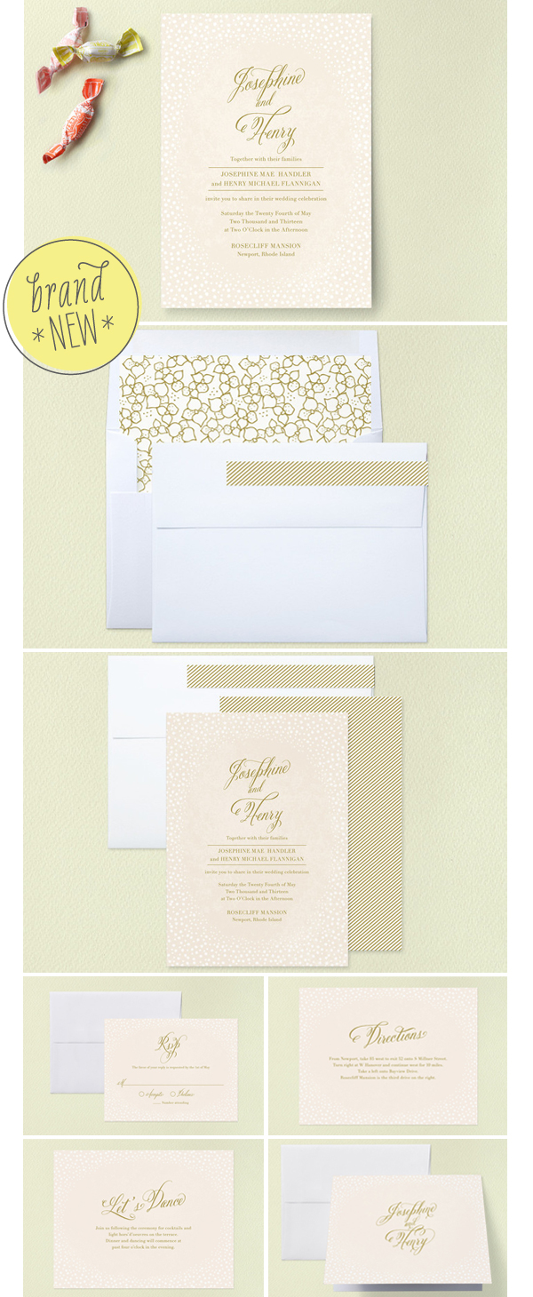 Baby's Breath Wedding Invitation, Duncan Park Papers,