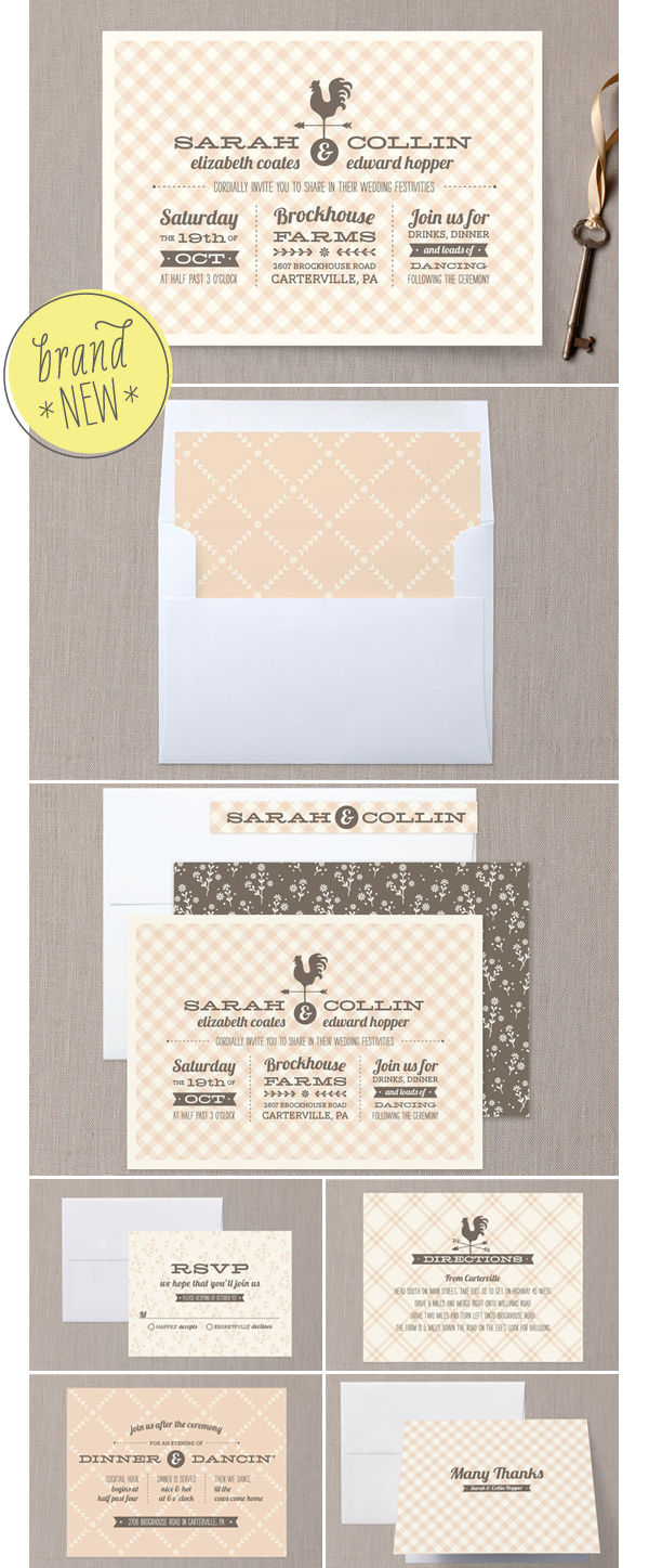 country classic wedding invitation suite duncan park papers