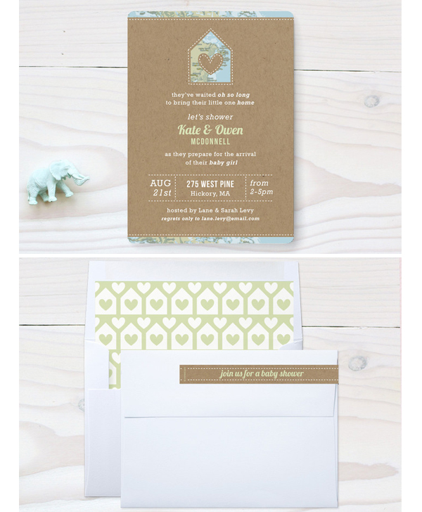 Coming Home Shower Invitation, Baby Shower Invitation, Adoption Shower Invitation, Duncan Park Papers
