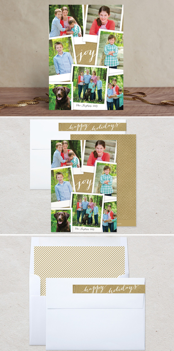Simple Snapshots Holiday Photo Card by Laura Hankins Duncan Park Papers for Minted