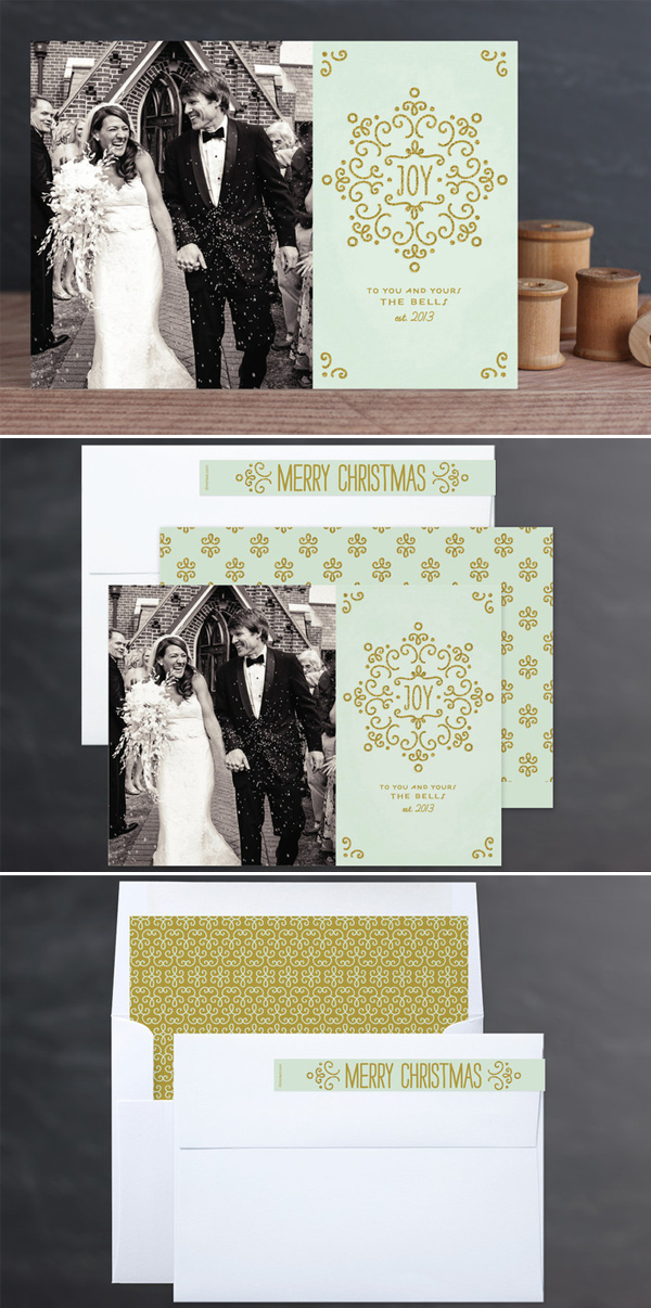 Snow Fancy Holiday Photo Card by Laura Hankins Duncan Park Papers for Minted